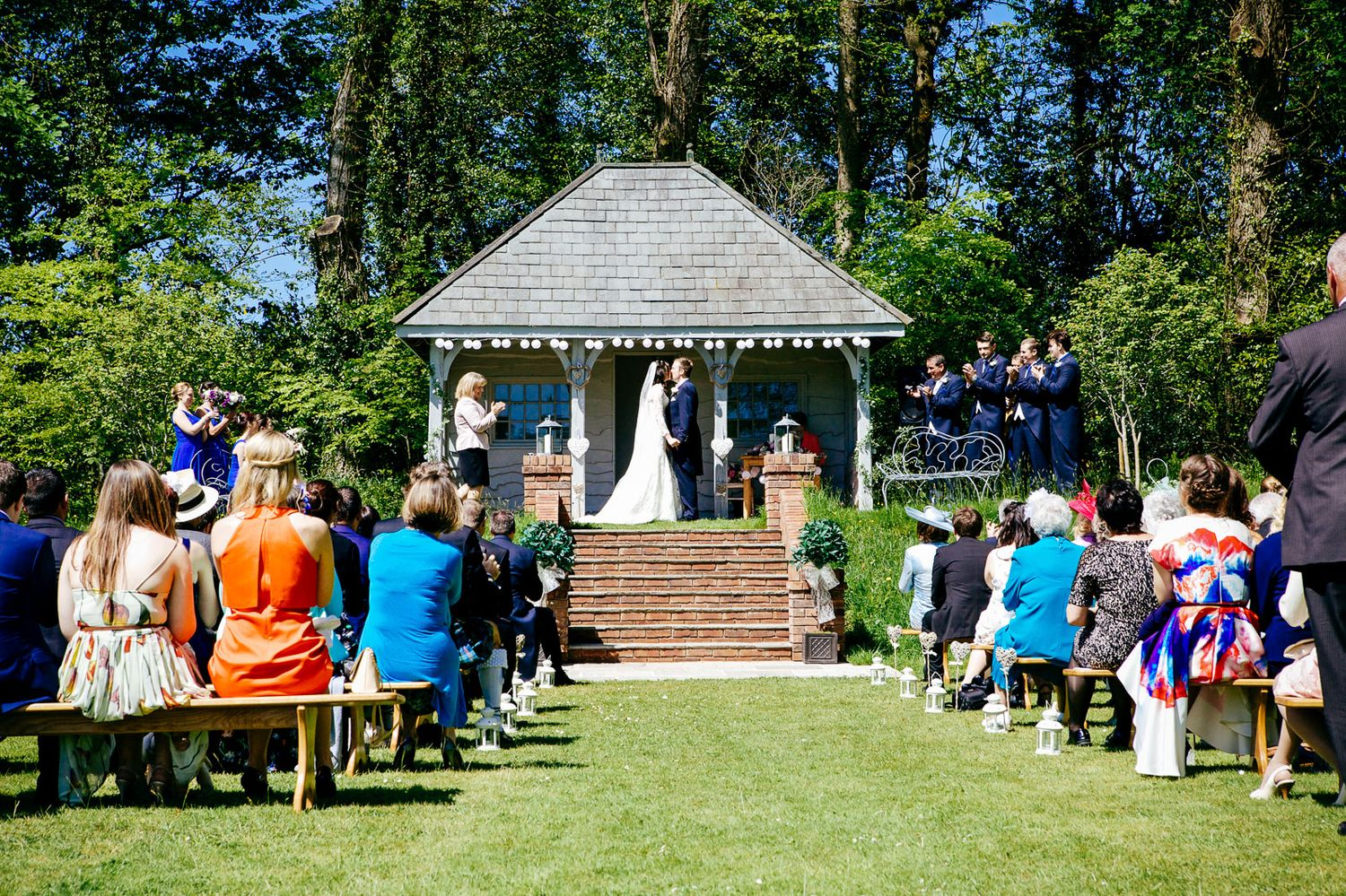 outdoor wedding ceremony at Deer Park Devon