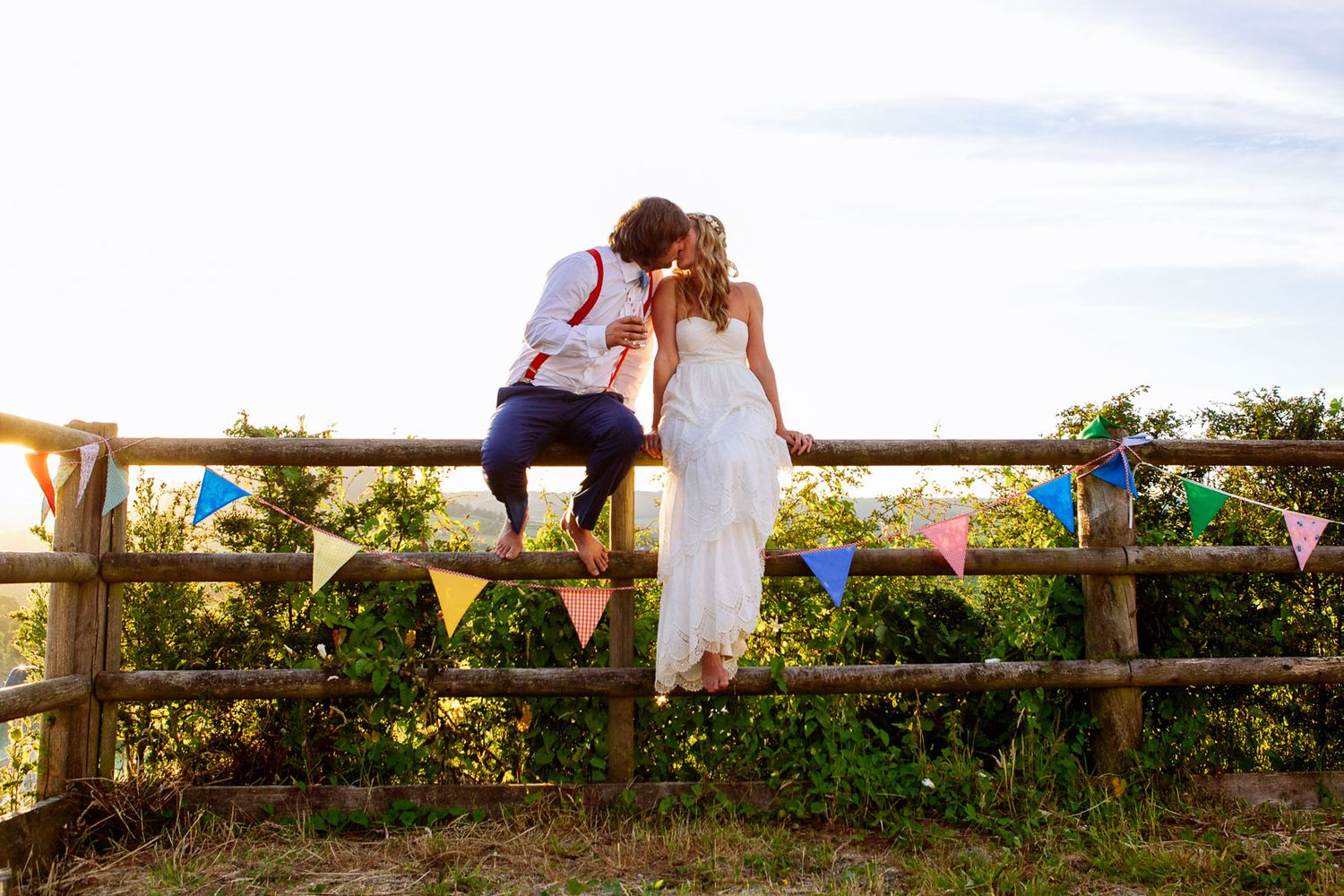 boho festival wedding in Devon