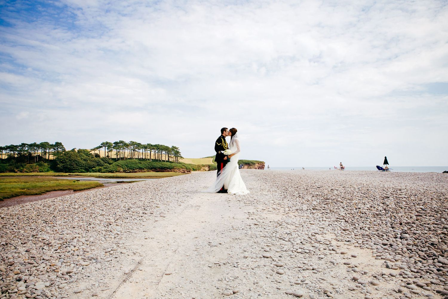 Devon beach wedding photography