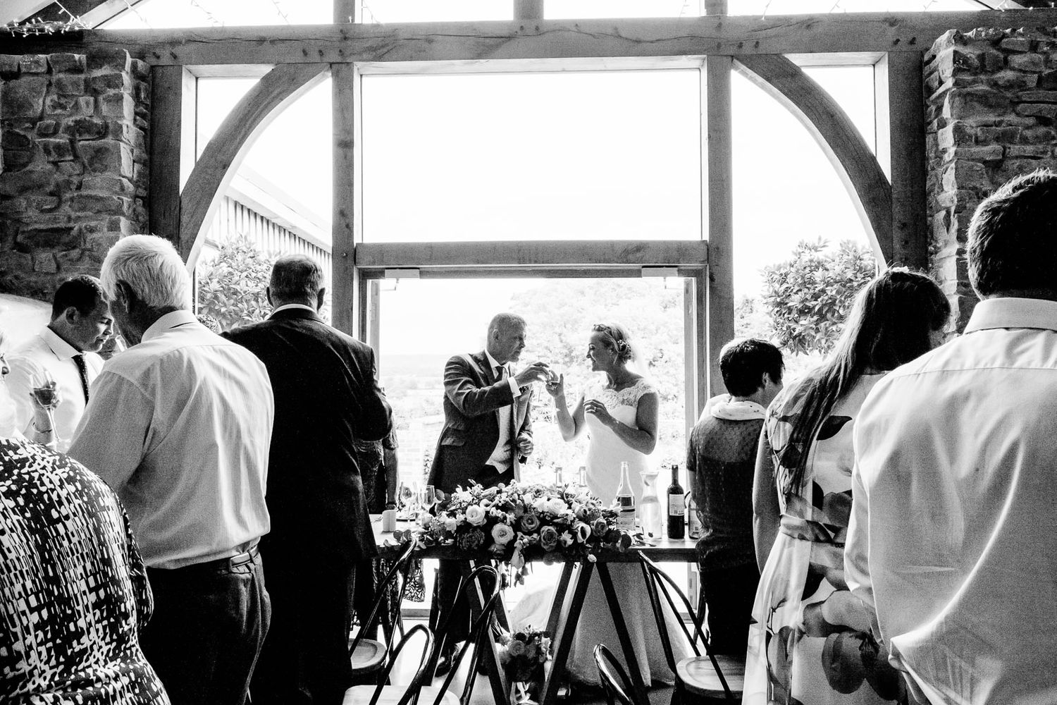 wedding photography at Upton Barn Devon speeches