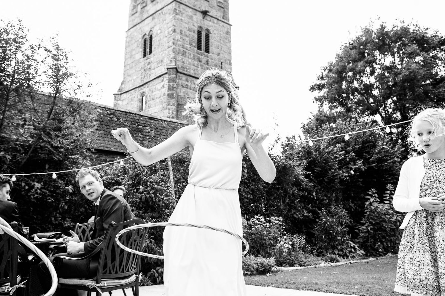 black and wedding reportage wedding photography in Devon