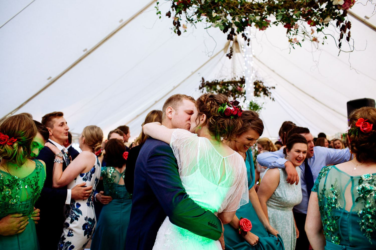 first dance at rustic Devon wedding
