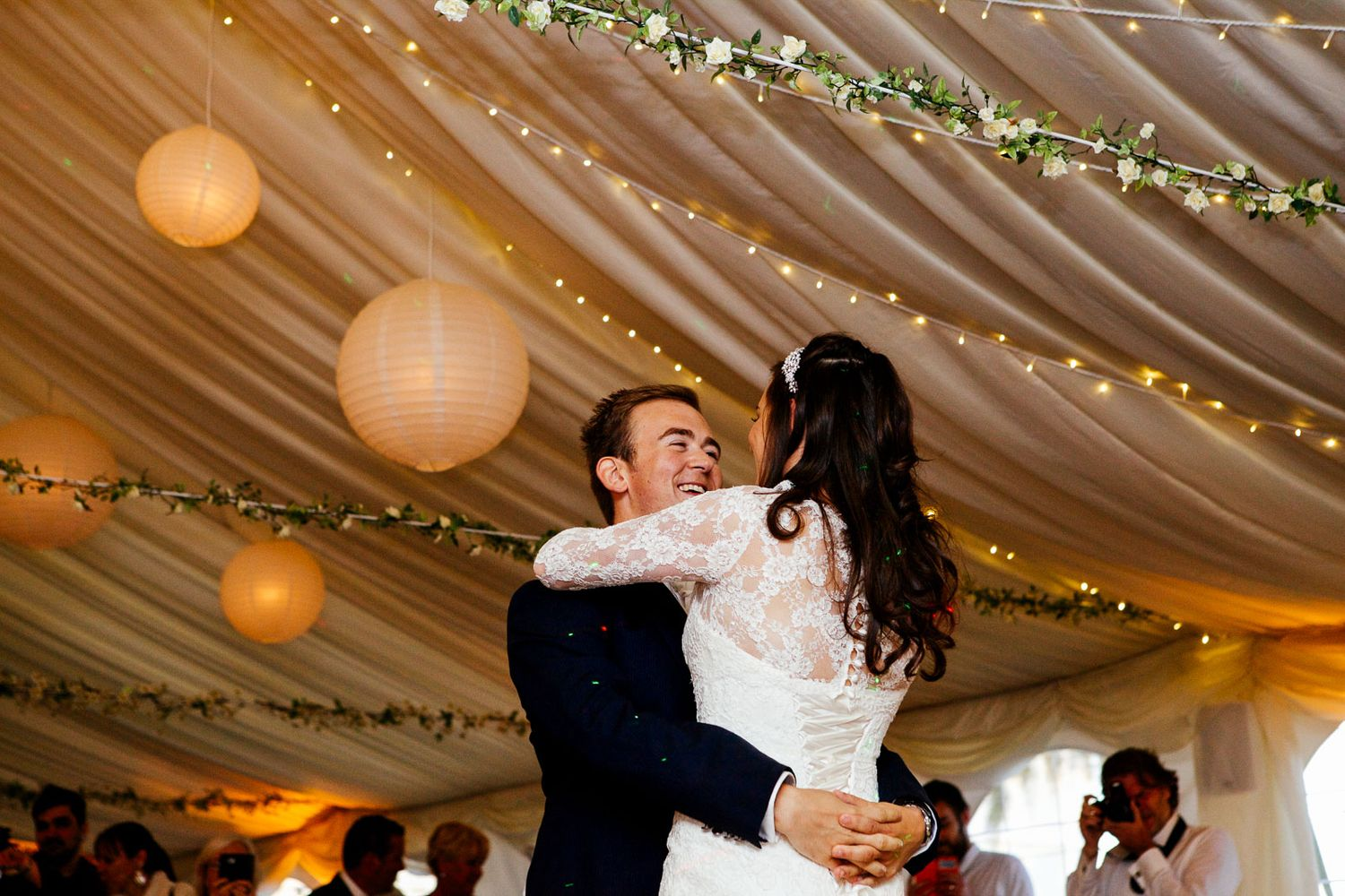first dance at Deer Park wedding in Devon