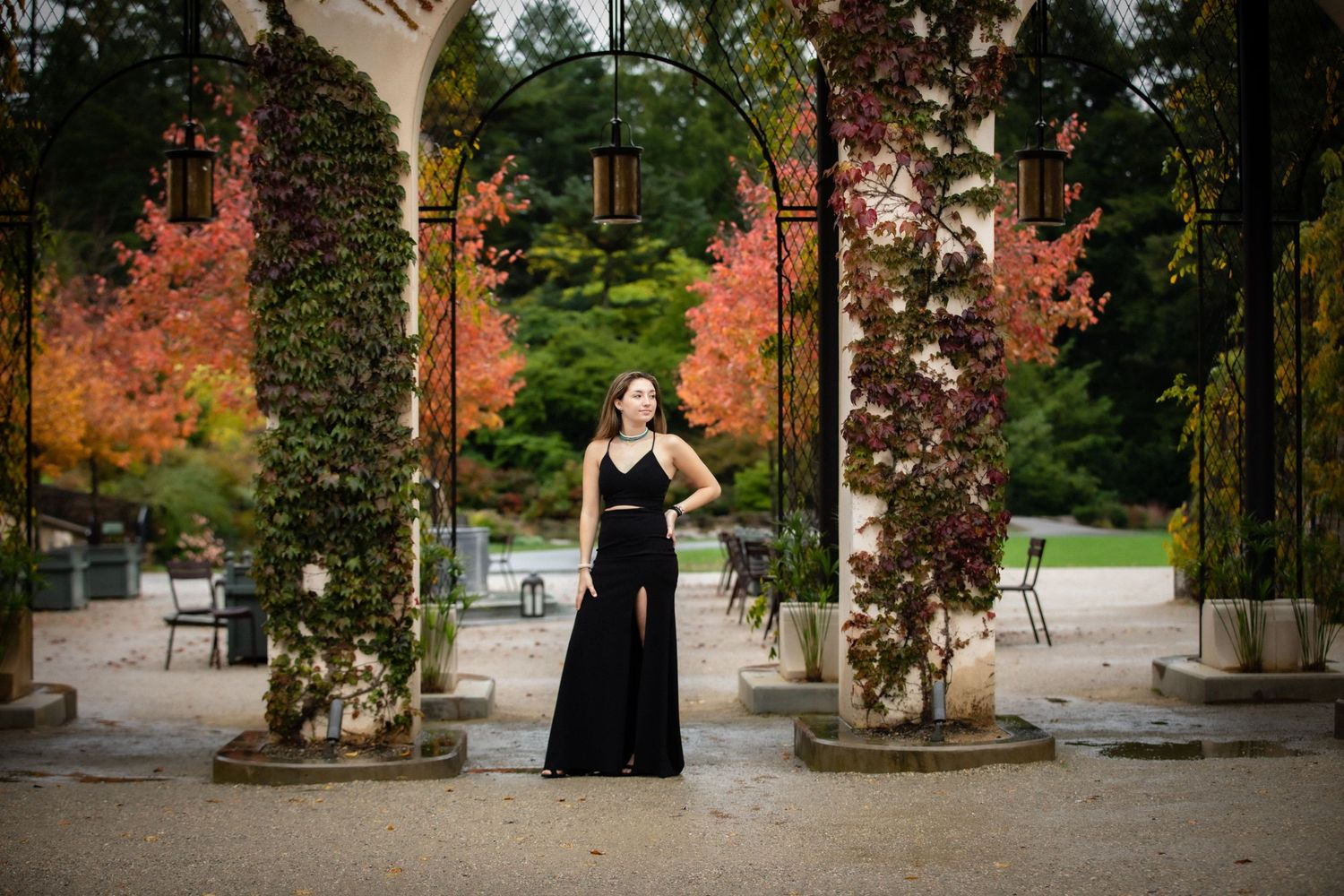 Senior session at Longwood gardens