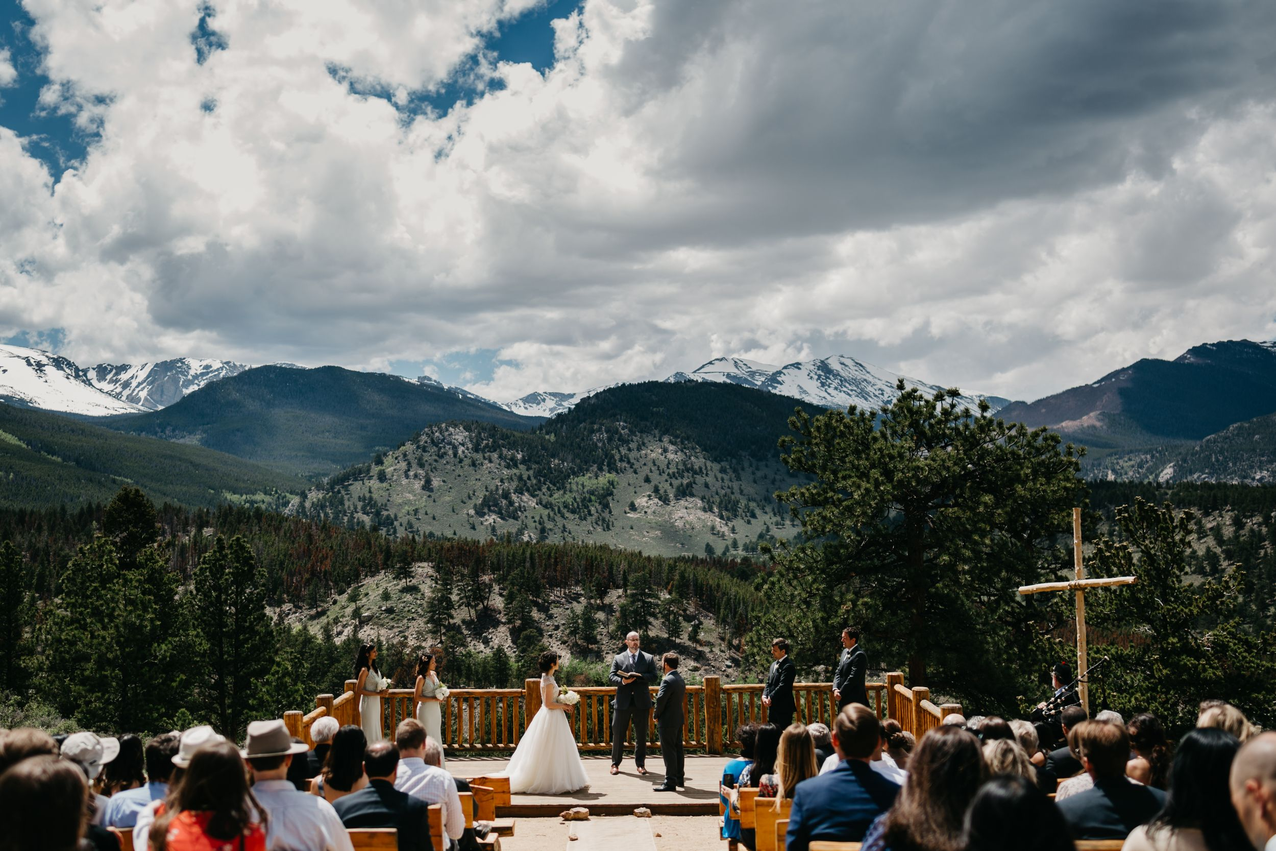 ymca, Rocky Mountain,  ceremony, photography, colorado, estes park, forest wedding, classy, timeless