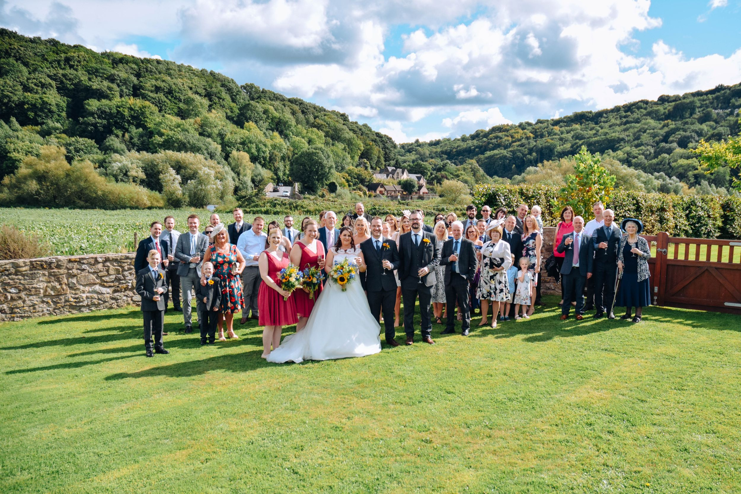 Zara Davis Wedding Photography near Stroud, Gloucestershire in the Cotswolds Flanesford Priory group photo