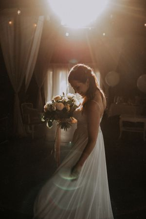 bride in the gorgeous light oka