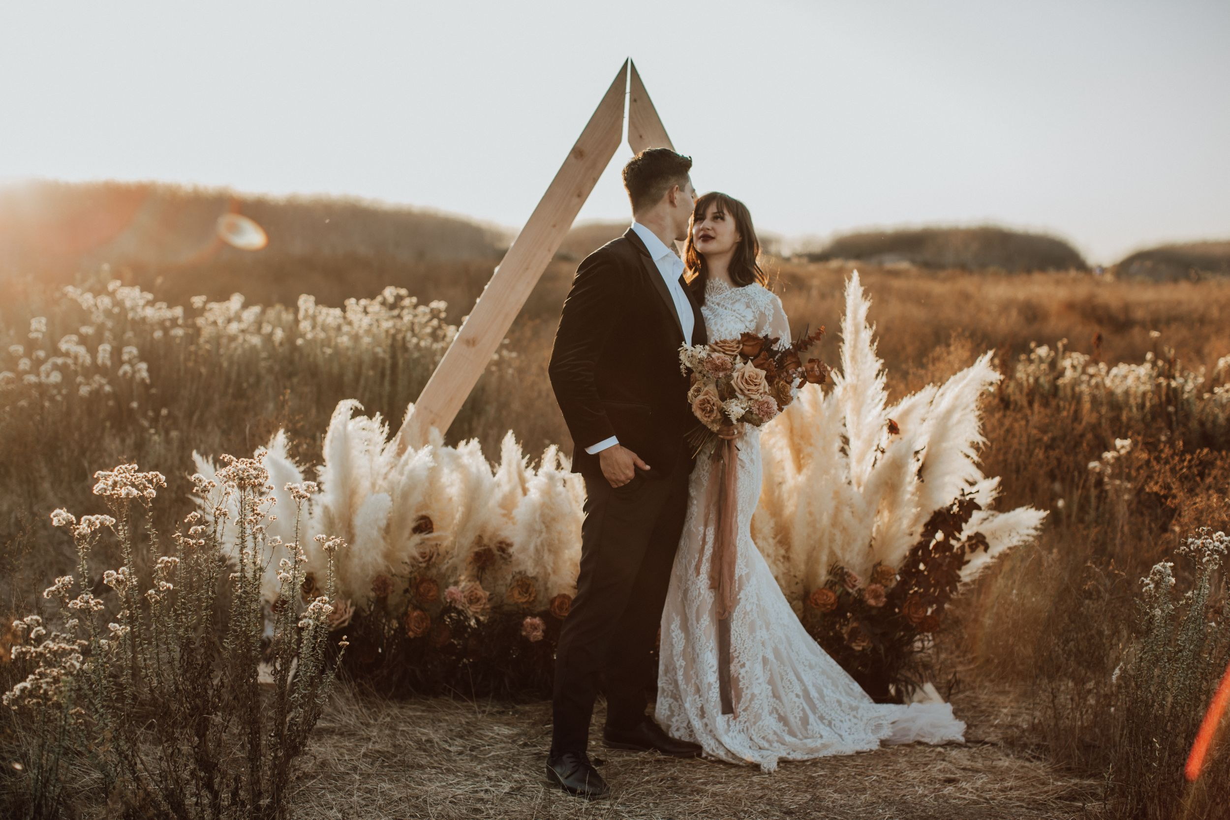 Boho Costa Mesa California elopement wedding photography