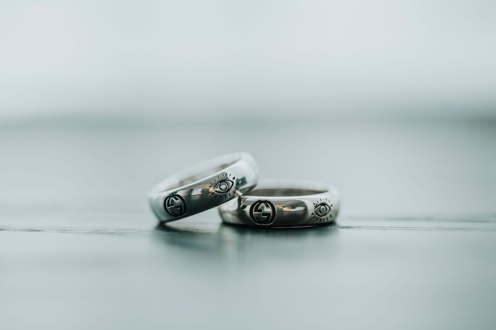 cute bride's and groom rings just for fun