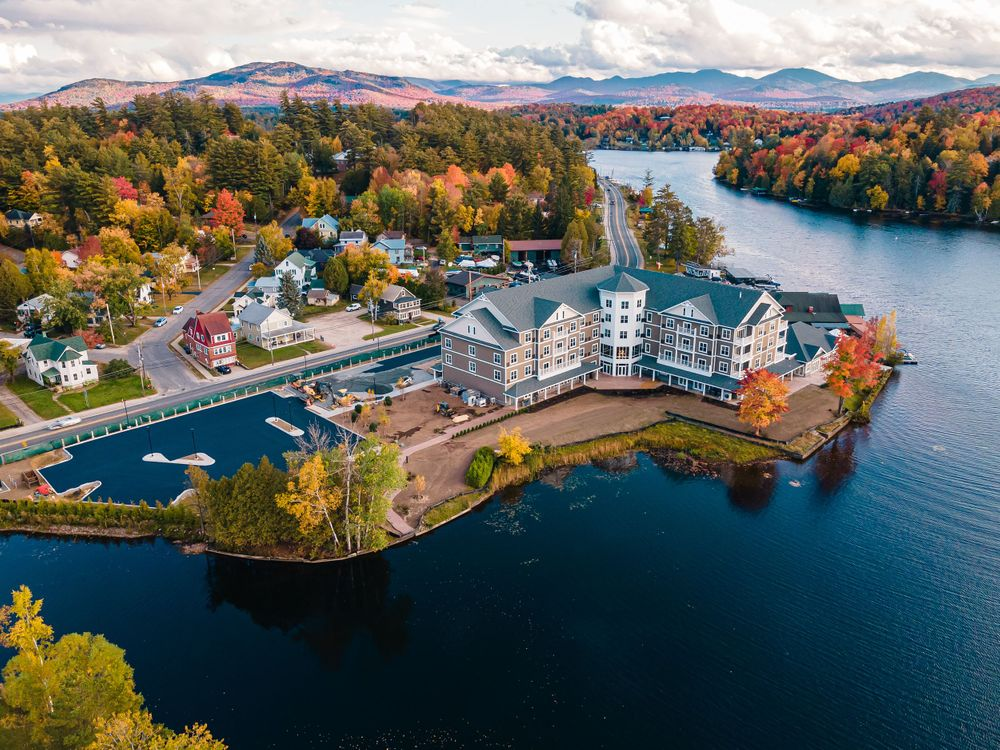 Aerial Real Estate Photography - Saranac Lake NY