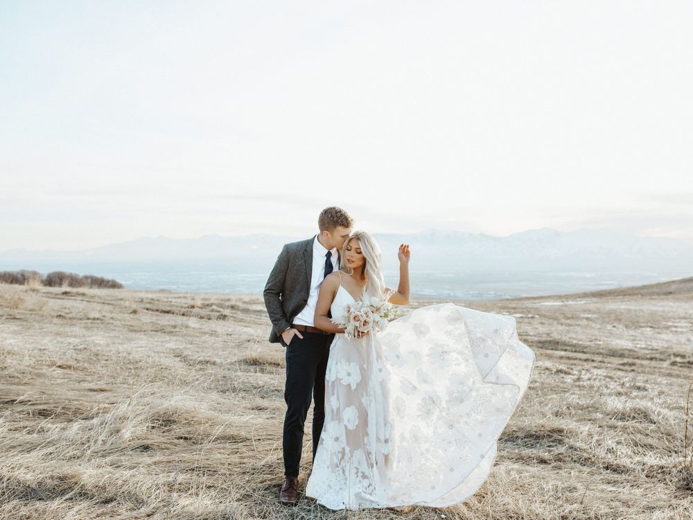 utah golden hour engagement couple bridal session utah elopement photographer utah mountains utah wedding photographer