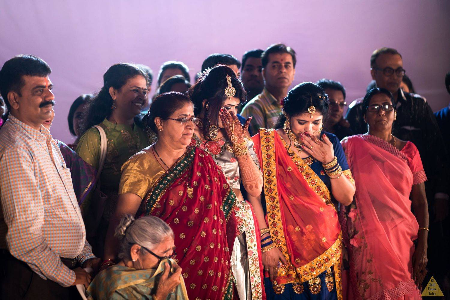 Bride & relatives emotionally involves in a sangeet sandhya moment