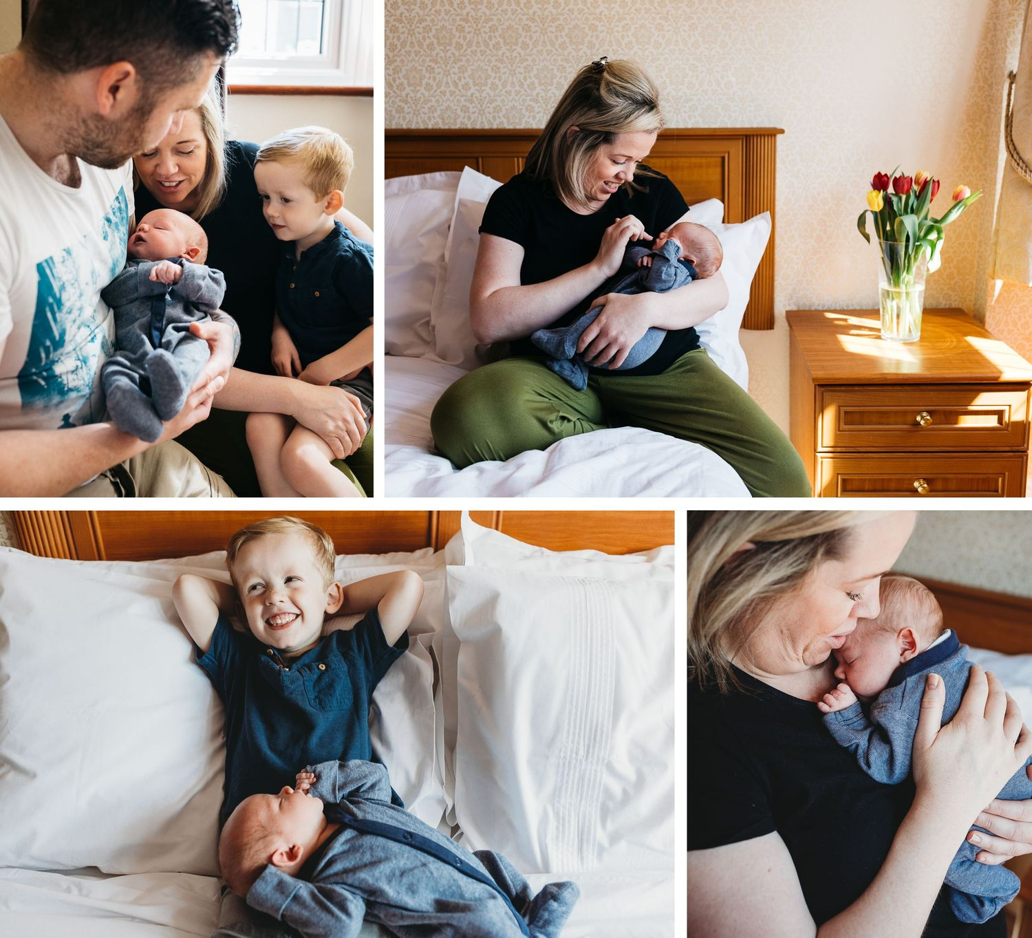 lifestyle family photo shoot at home with two boys