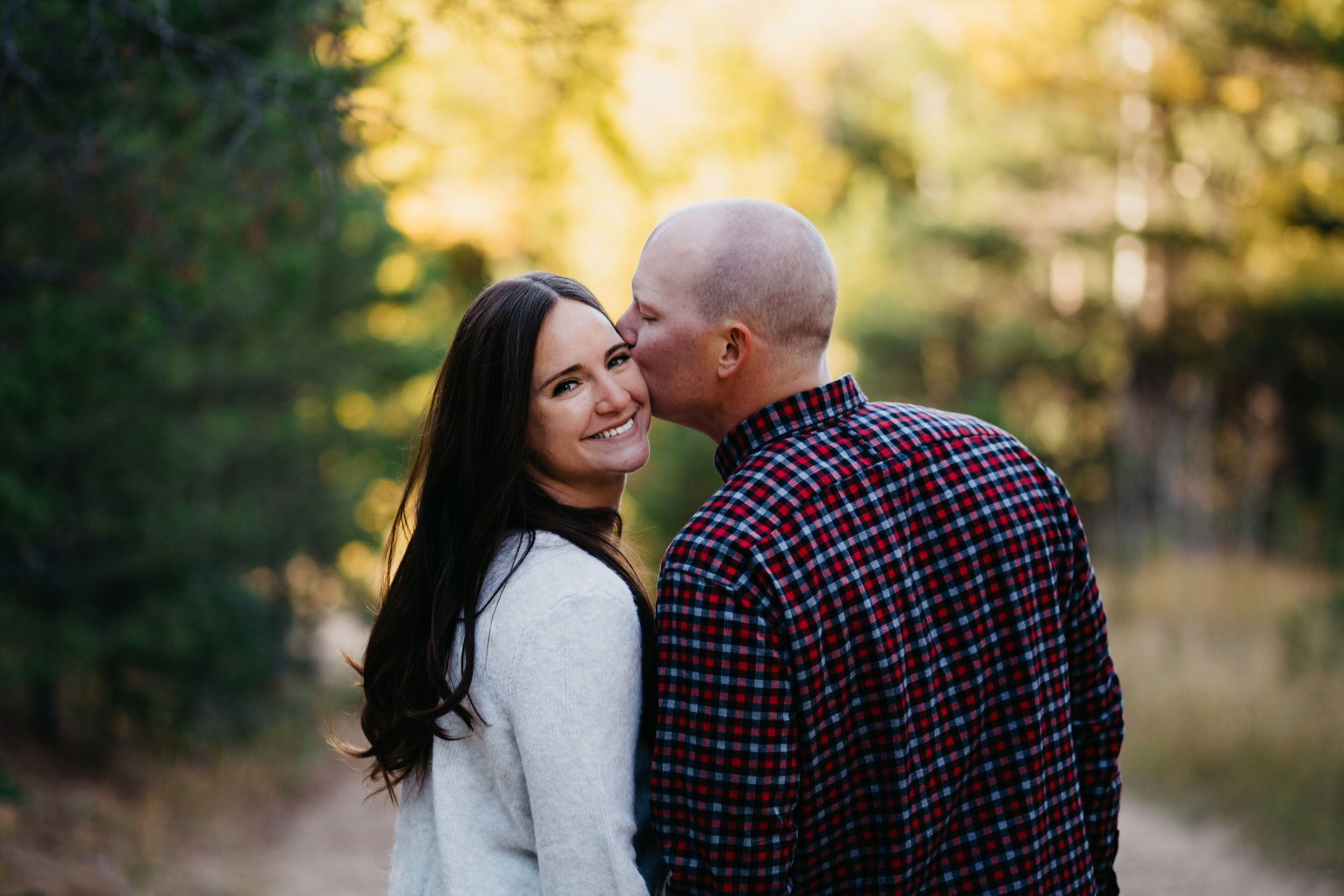 Cute pose engagement session couple ideas Colorado Wedding