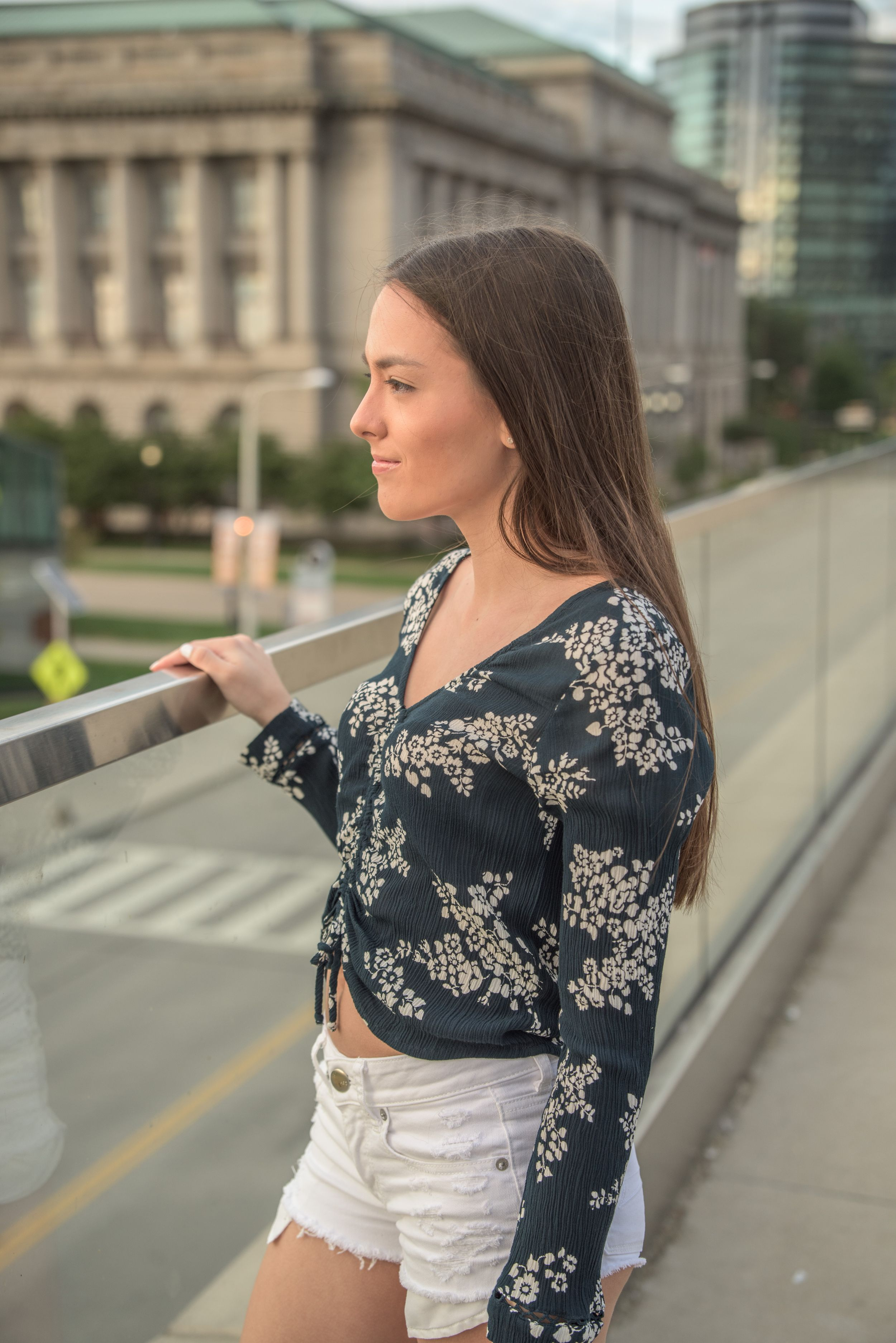 Malina (St Jospeh Academy Class of 2020) by City Hall, Cleveland, Ohio