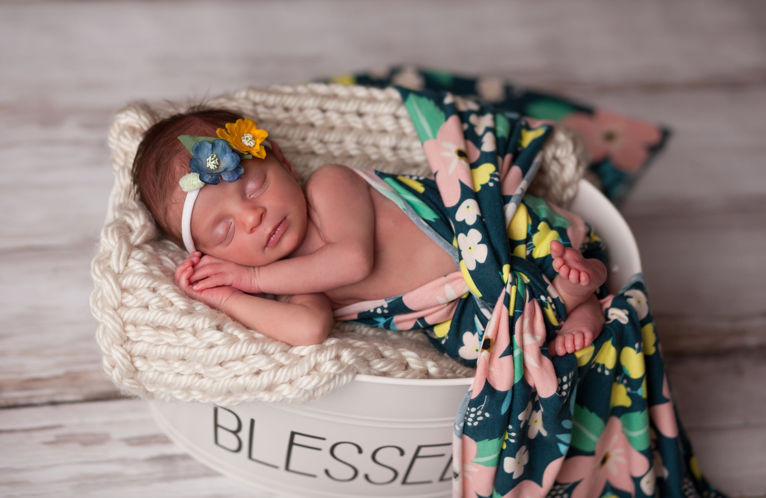 Gorgeous newborn in the studio