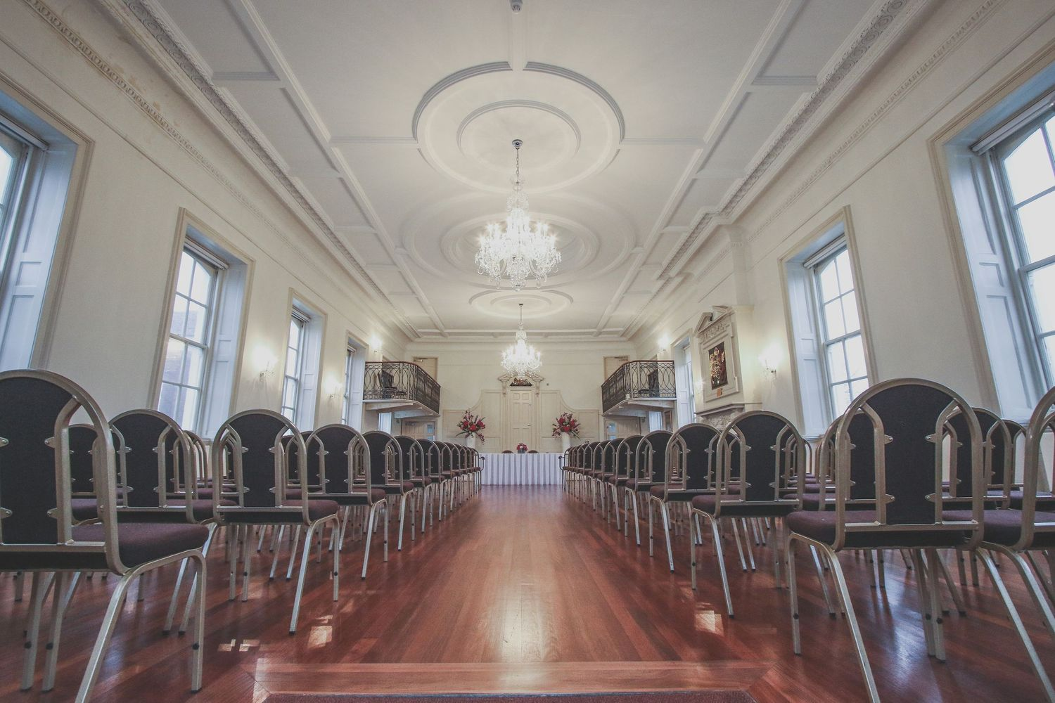 Interior of The Guildhall Registry Office in Poole