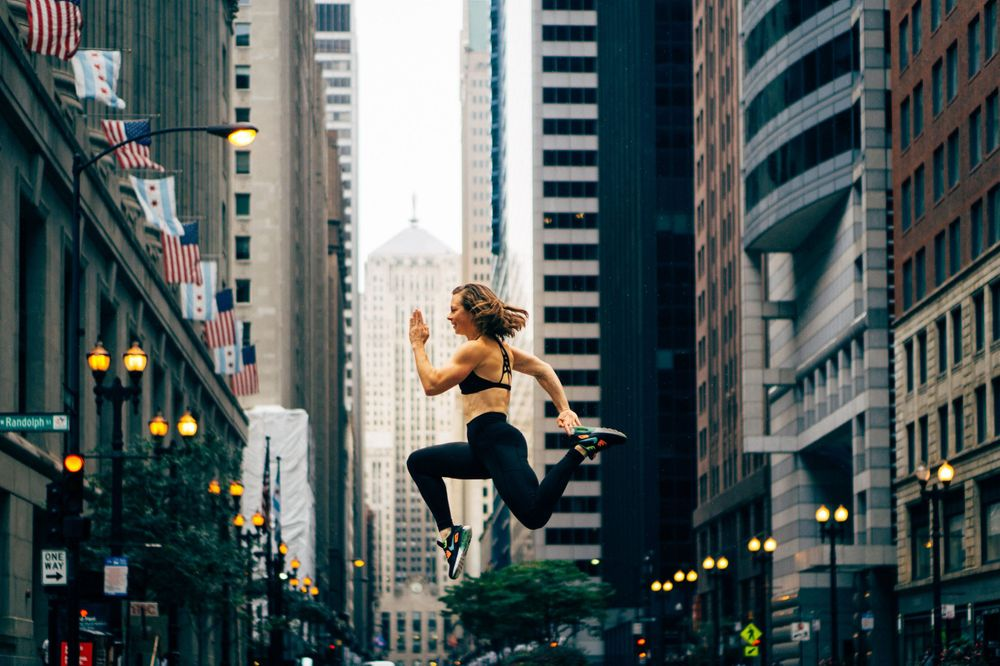 fitness jumping photoshoot in chicago