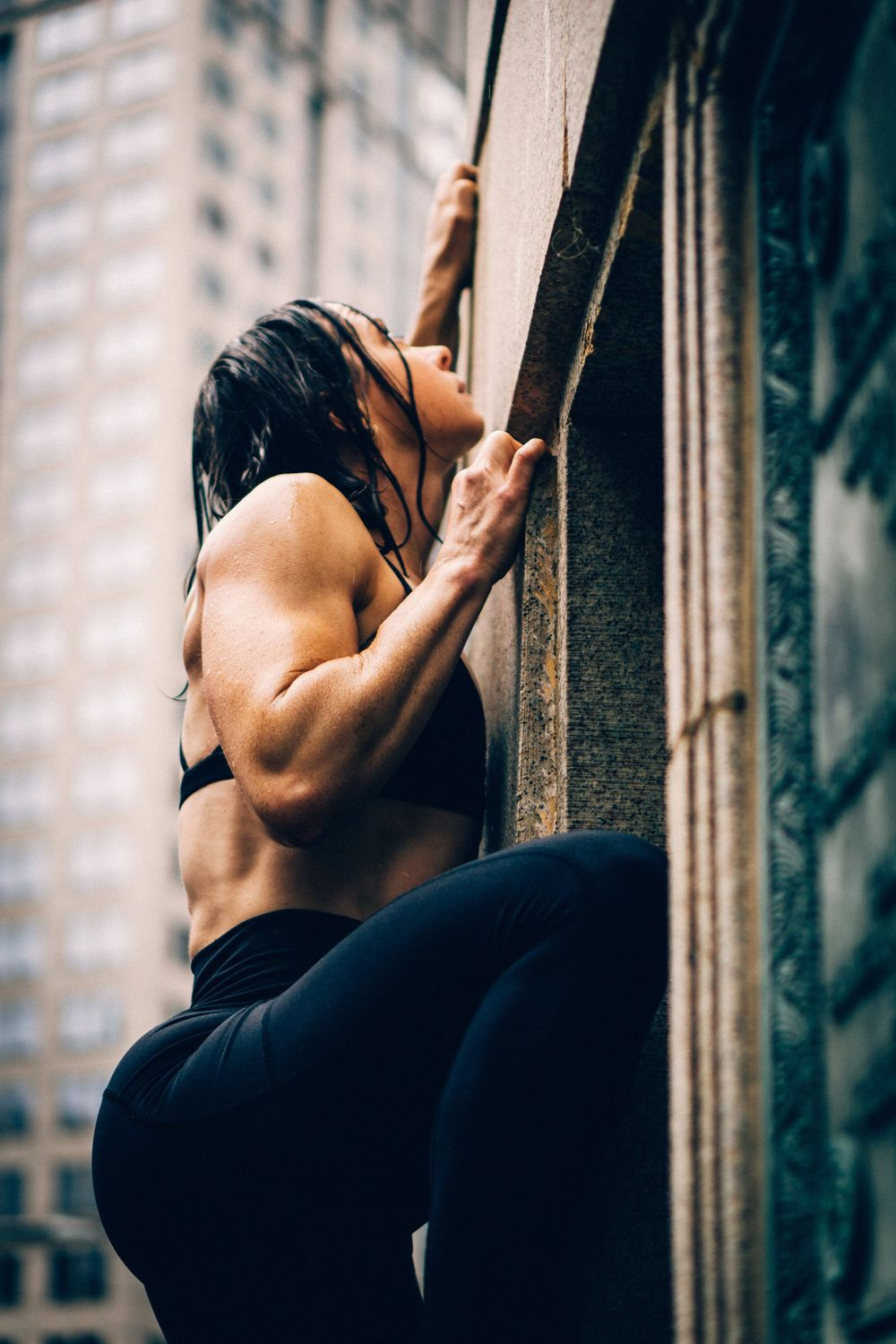 fitness climbing photoshoot in chicago