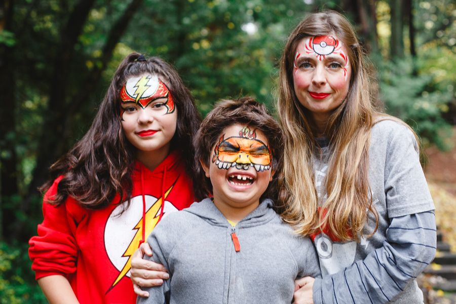 face paint family in nevada city