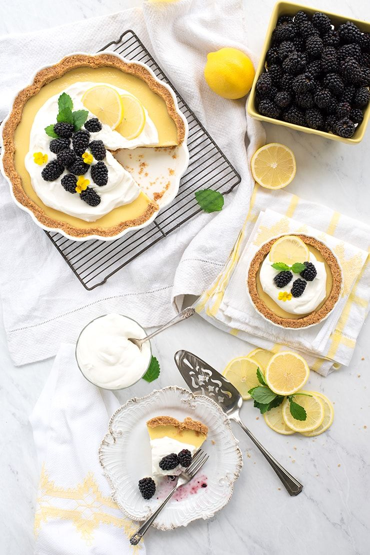 Lemon Icebox Pie Food Photography by Charity Beth Long