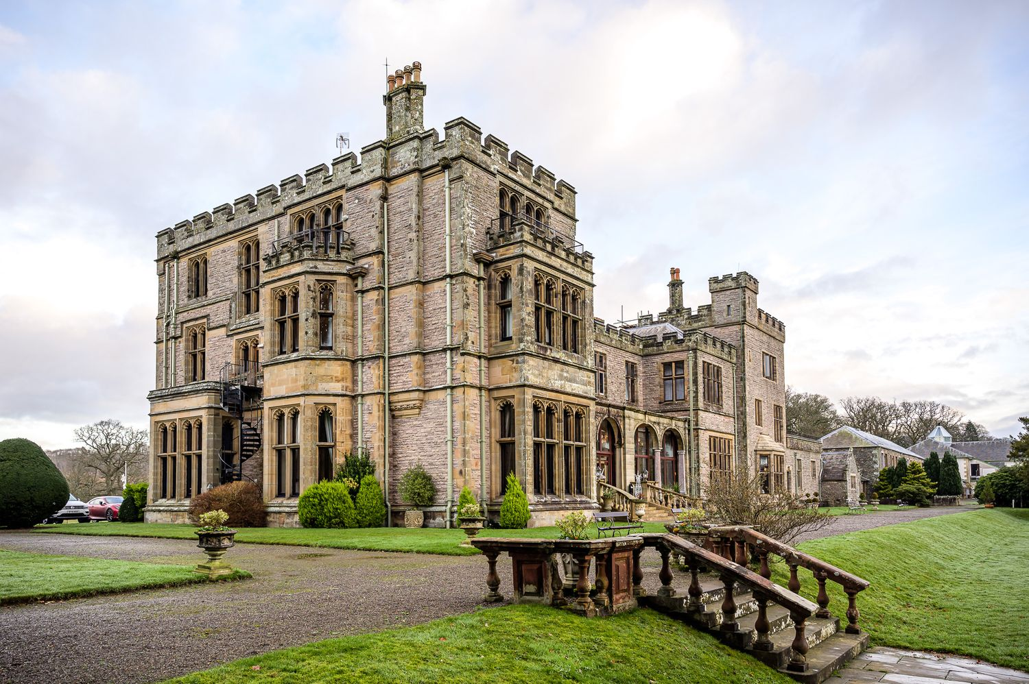 Armathwaite Hall on the shores of Bassenthwaite Lake in Cumbria
