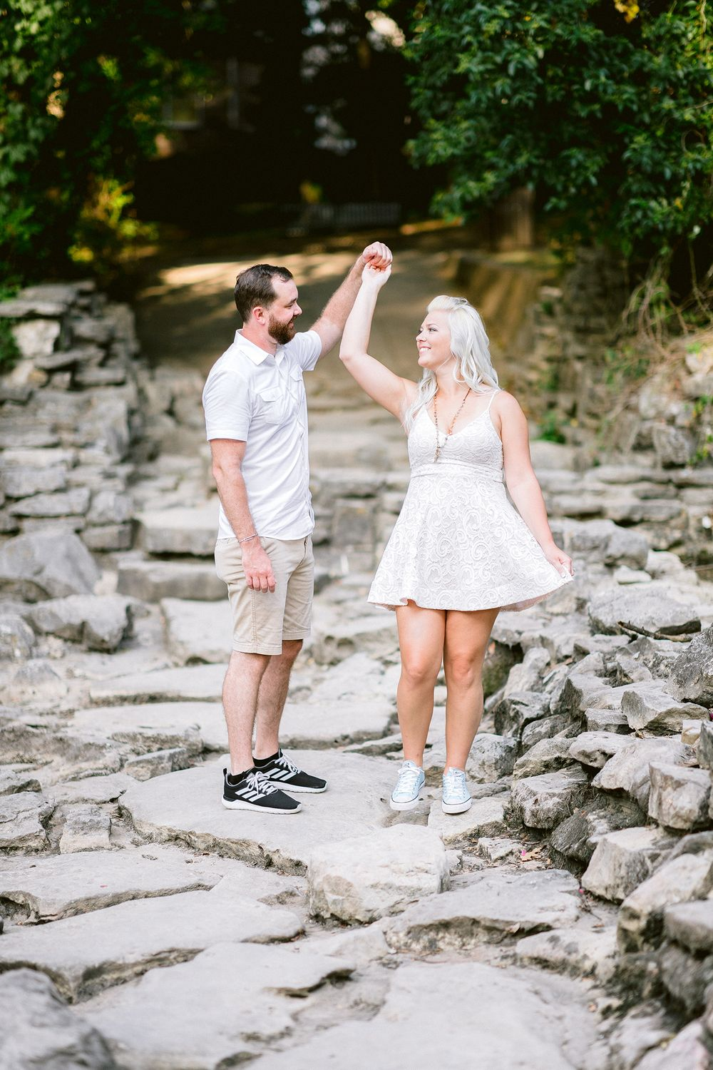 Elizabeth Couch Photography Prairie creek engagement photos waterfall plano bride