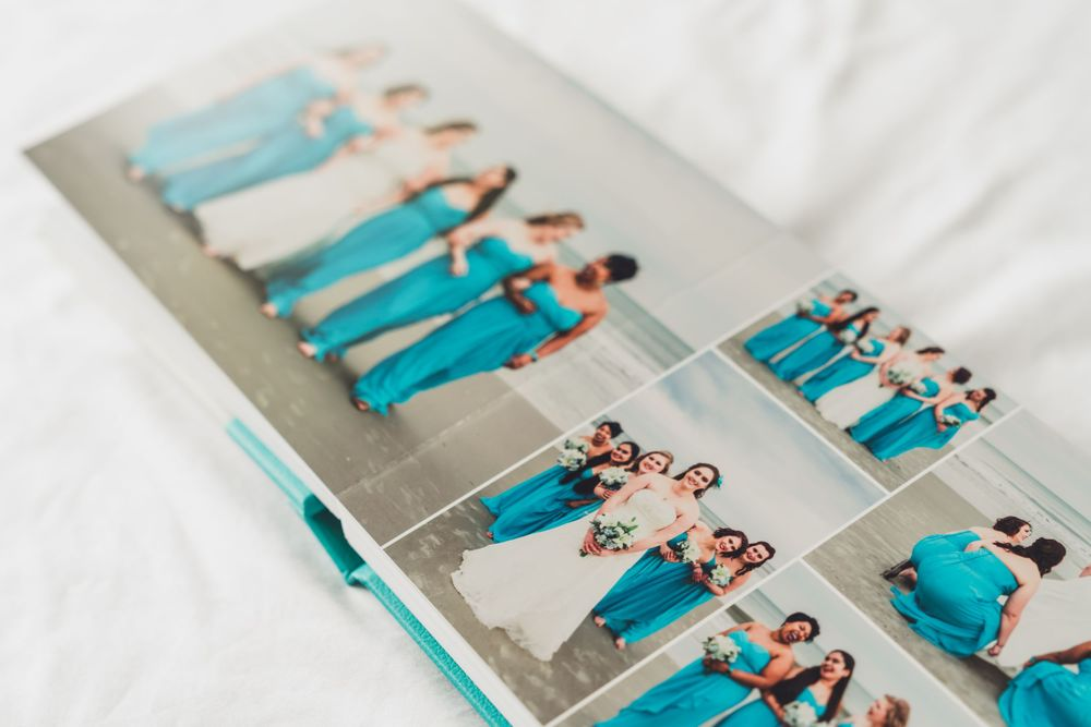 Beautiful wedding album offered by PHV Photo, wedding photographer in Myrtle Beach and Charleston South Carolina