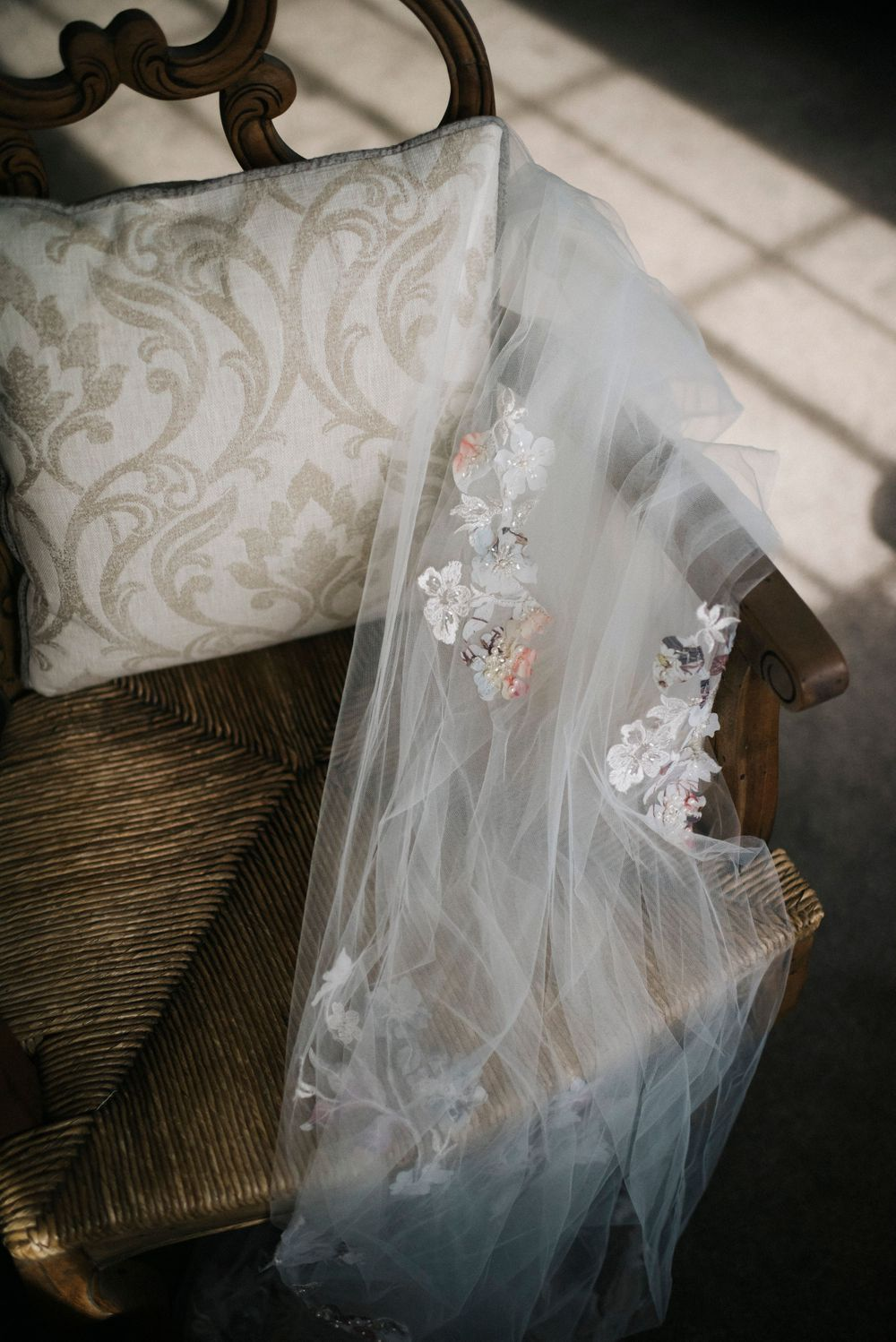 wedding veil, pretty wedding veil, wedding veil with extra detail, colourful wedding veil, eaves hall wedding