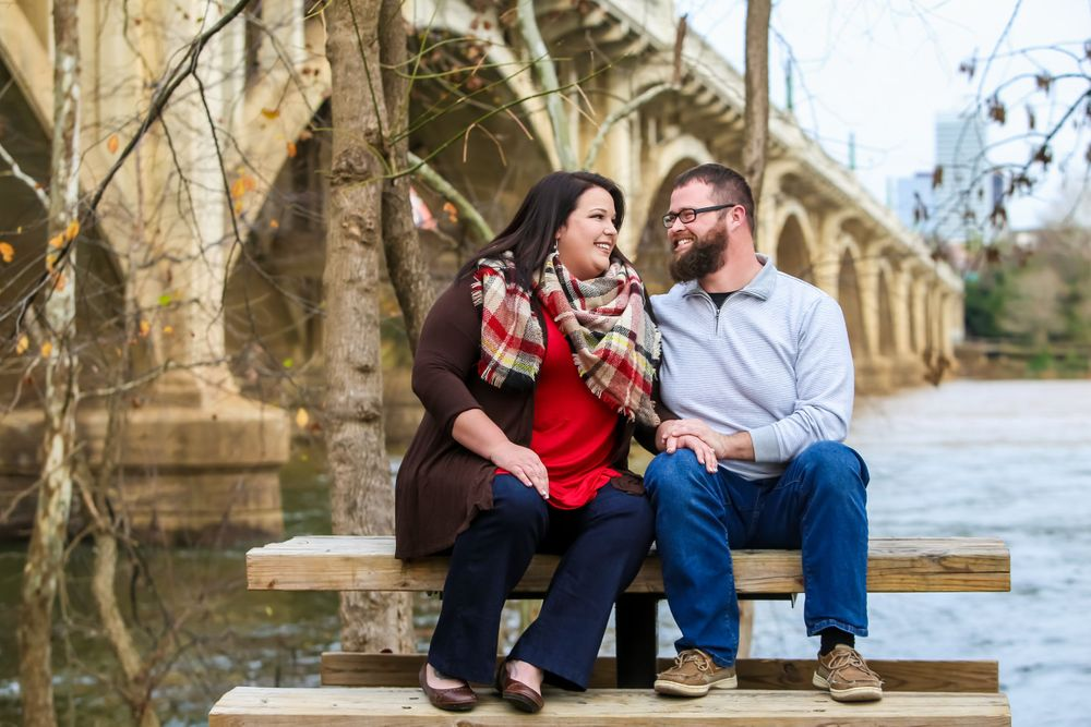 Engagement Portrait at the Gervais Street Bridge in West Columbia, SC