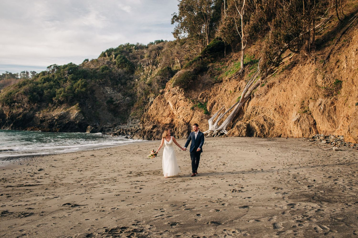 Such a happy day for an elopement in Northern California.
