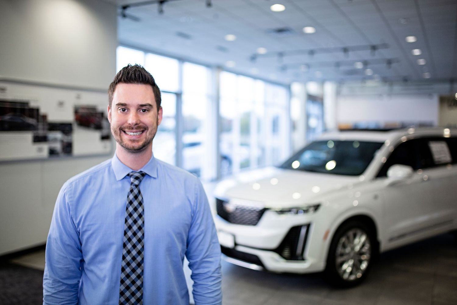 Brand photography, headshots; Sales manager Dan Haspert, Cadillac Roseville, MN