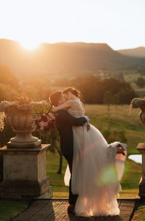 Hunter Valley Voco Kirkton Wedding sunset photos
