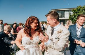 Port Macquarie Sails Wedding confetti toss