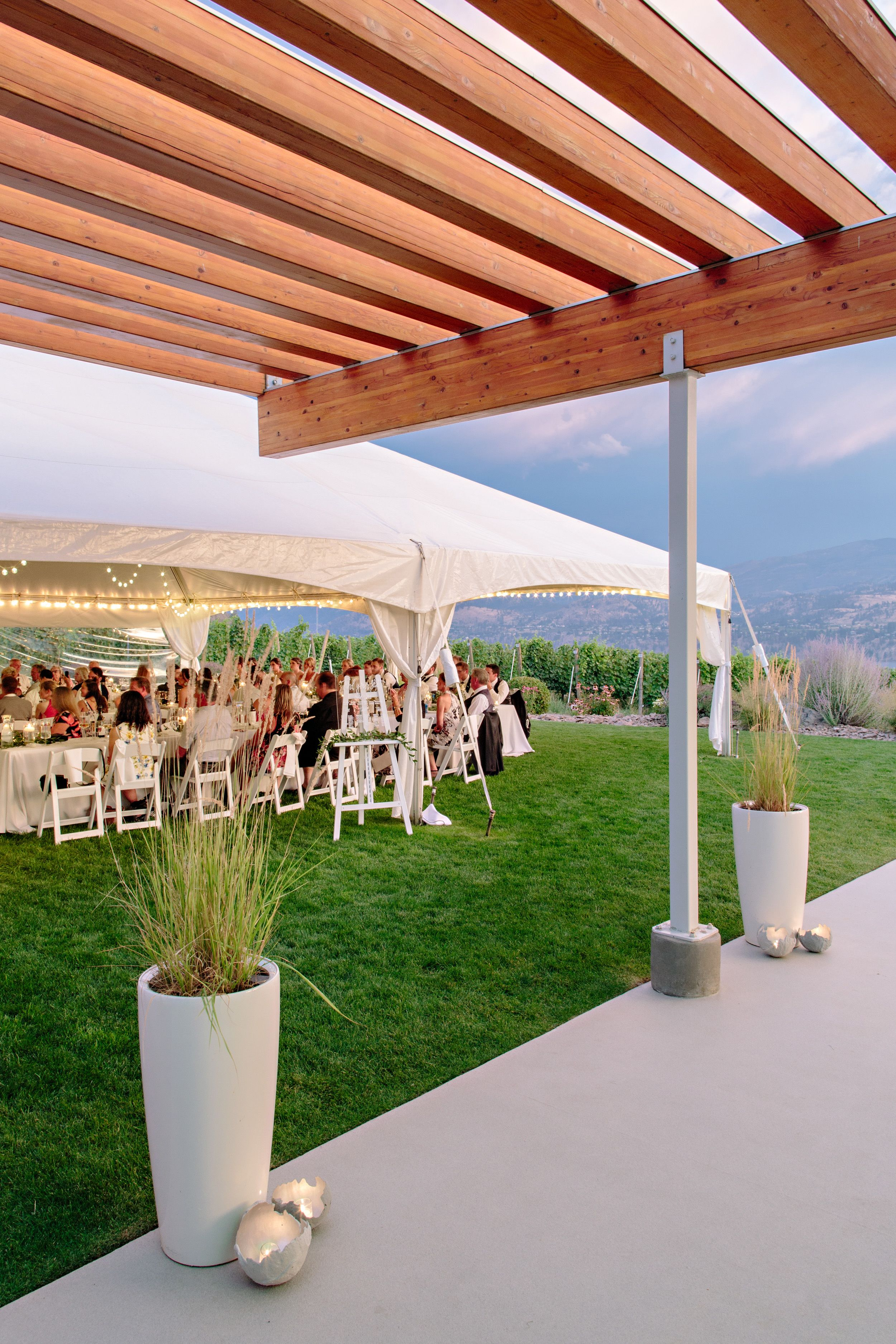 painted rock winery wedding reception