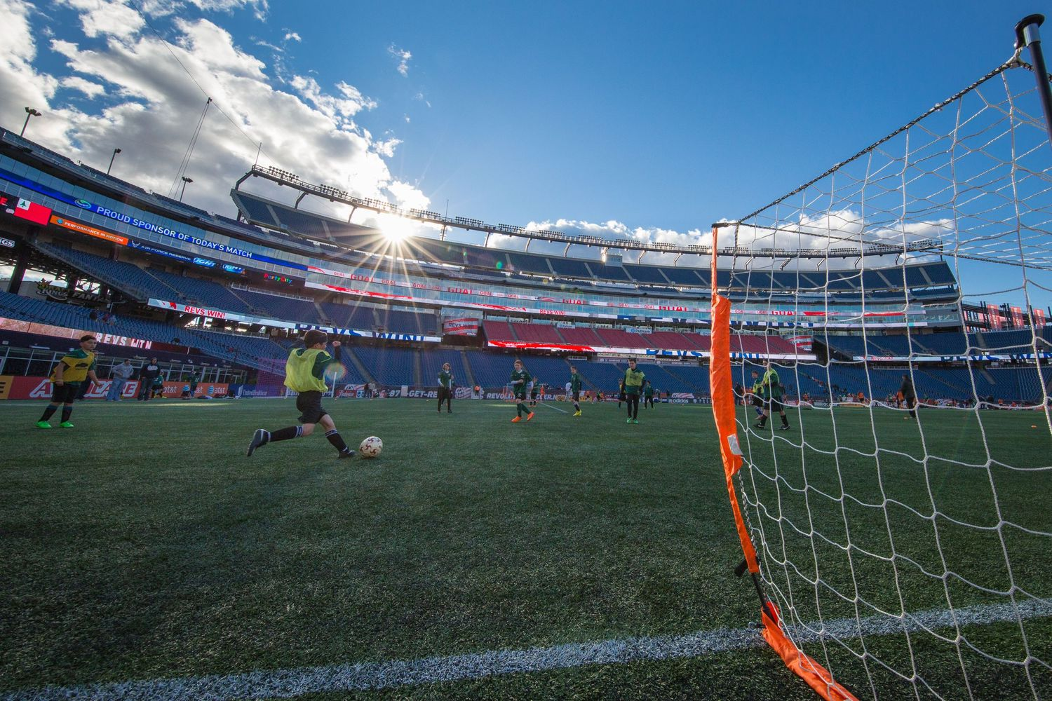Gillette Stadium Kids Soccer sunset
