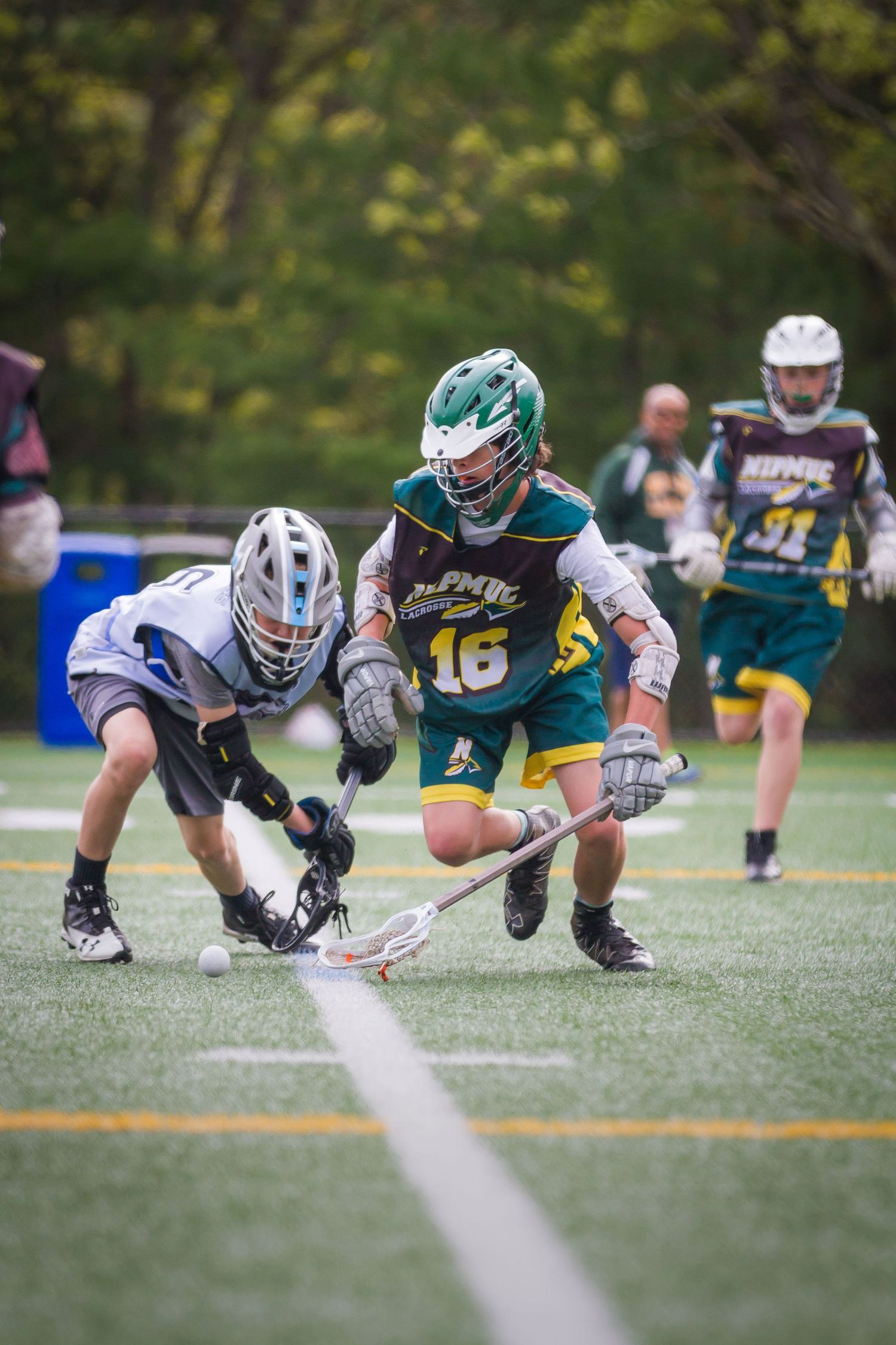 Nipmuc LAX Lacrosse Action Shot of Male Player