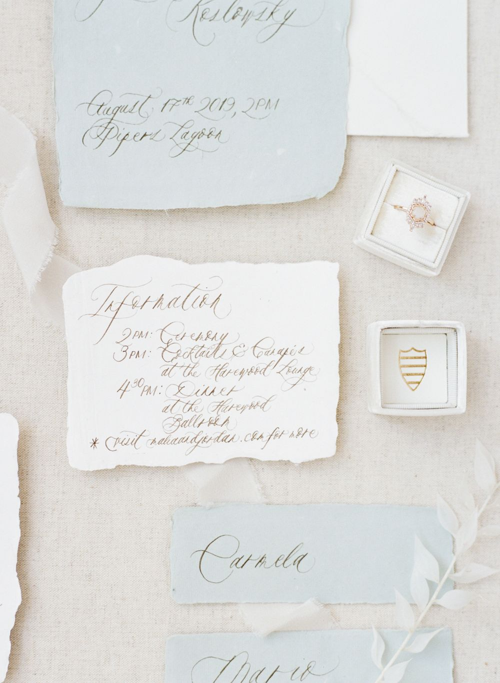 Wedding Calligraphy -Melissa Mae Photography - Vancouver, BC