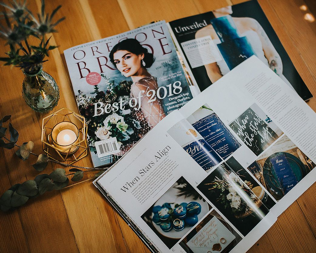Oregon Bride Magazine article