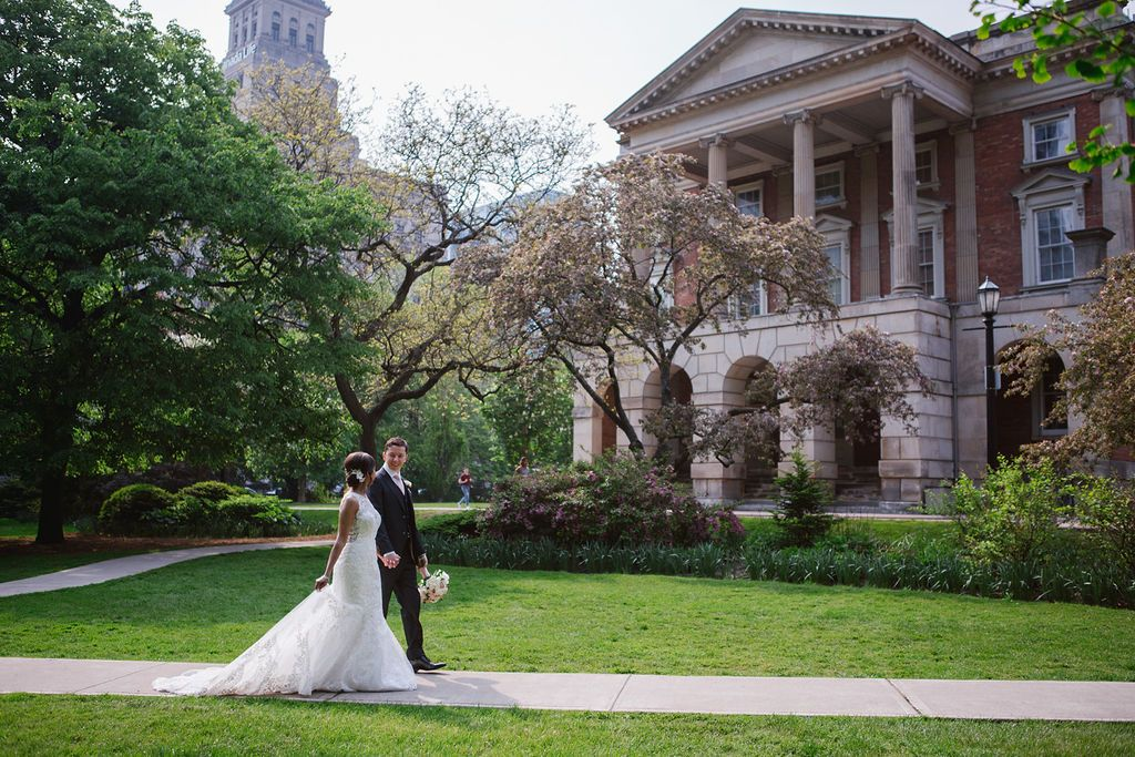 osgoode hall bride and groom photos walking