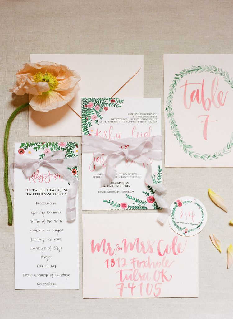 Oklahoma wedding photographer Aaron Snow Photography Springs Events invitation suite details