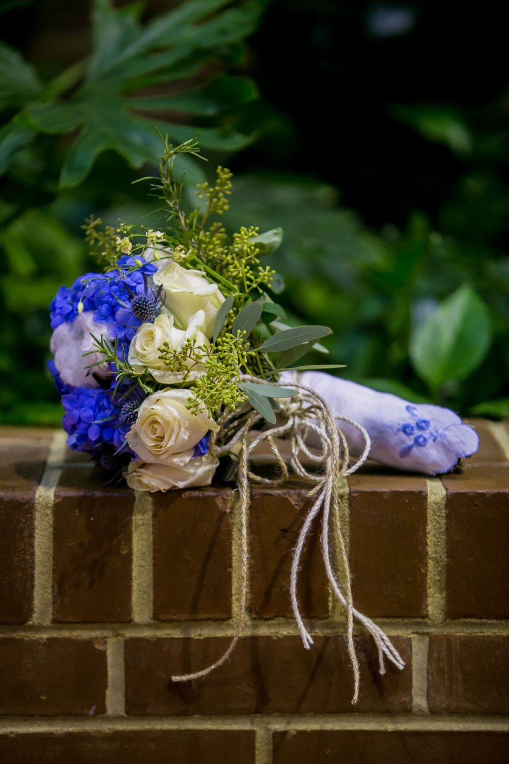 Brooke's bridal bouquet before her wedding at the South Carolina State Museum in Columbia, SC