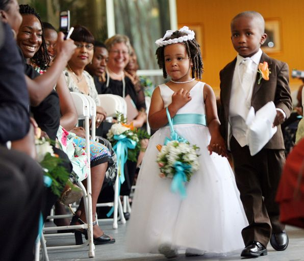 Flower girl and ring bearer wedding by Columbia, SC, Wedding Photographer Jeff Blake