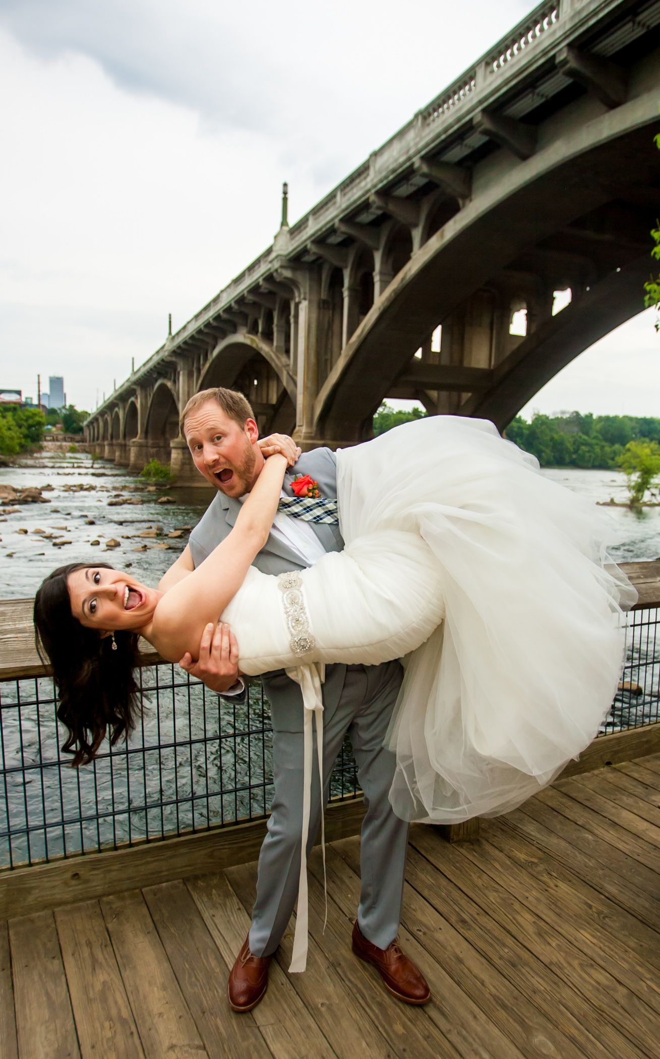 Wedding at Gervais Street Bridge Stone River by Columbia, SC, Wedding Photographer Jeff Blake