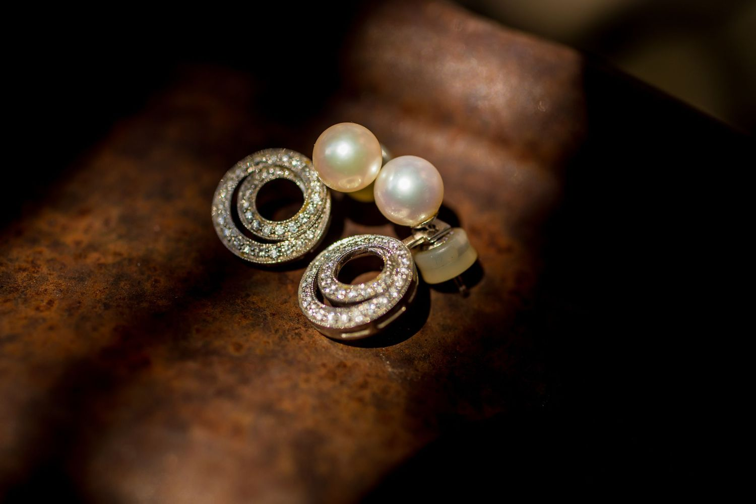 Ear rings by Columbia, SC, Wedding Photographer Jeff Blake